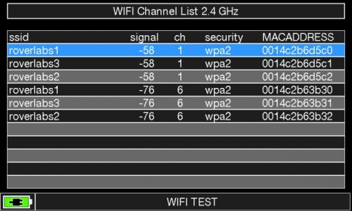 ROVER HD TAB 900 Series WIFI LIST 2_4 GHz