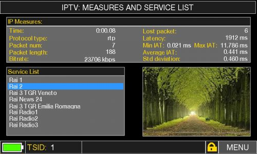 HD TAB 900 Plus IPTV MEASURES