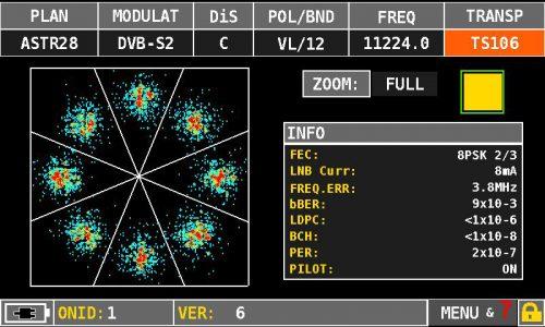 MASTER SAT Evo DVBS2 constellation