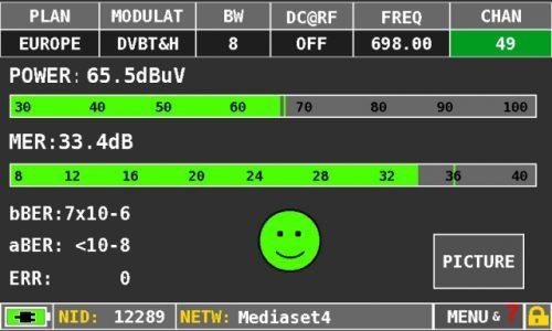 ROVER HD TAB 4 Easy DVBT measures