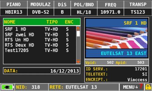 ROVER HD TAB 4 Sat MPEG service list