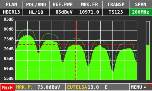 ROVER HD TAB 4 Sat max hold spectrum