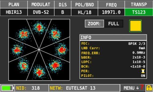 ROVER HD TAB 7 Series DVBS2 constellation