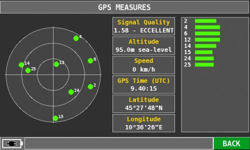 ROVER HD TAB 9 Series GPS measures