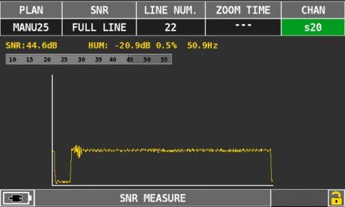 ROVER OMNIA 7000 snr measure