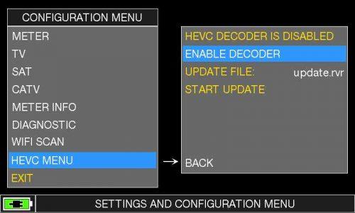ROVER HD TAB 900 Plus - HEVC MENU ENABLE DECODER