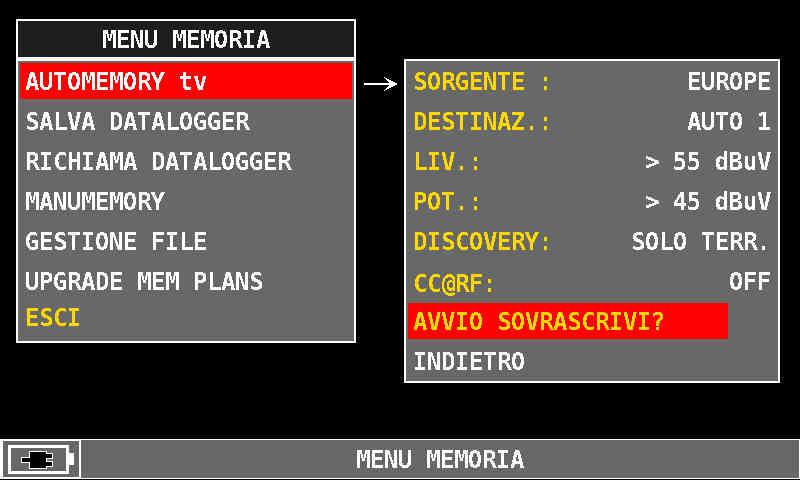 ROVER_HD_Series_AUTOMEMORY_tv_AVVIO_SOVRASCRIVI