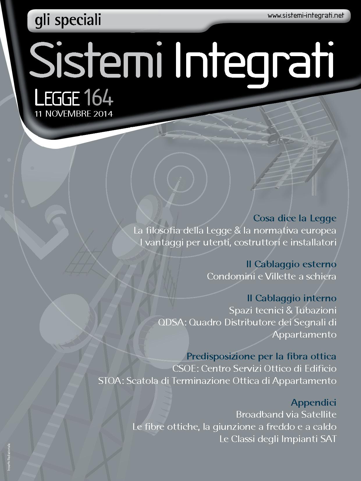 Sistemi Integrati - Tv Digitale Volume 1 - 2015 Speciale Legge 164