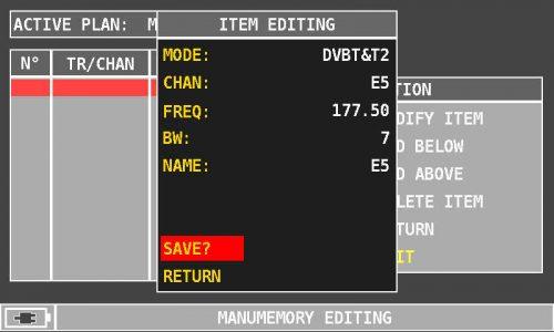 ROVER HD Series MANUMEMORY SAVE
