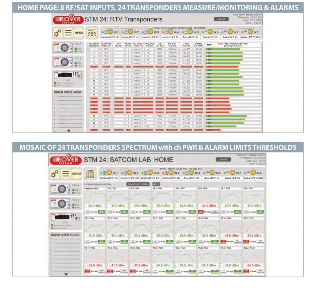 ROVER SATCOM SAT MONITORING mod STM24-L w v5,4 s-2a