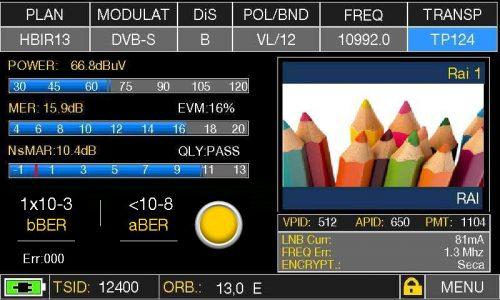 ROVER HD TAB 900 Plus - MEAS TP 124